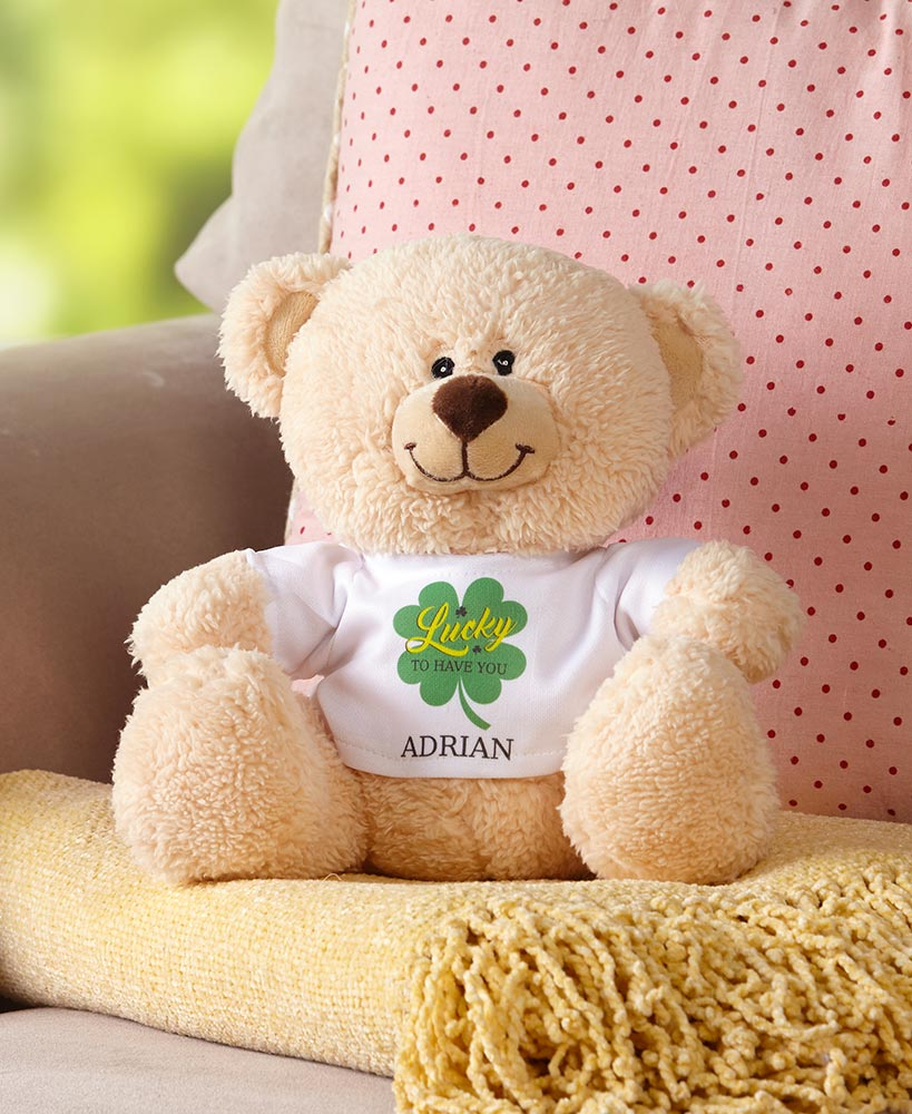 Personalized Shamrock Teddy Bear