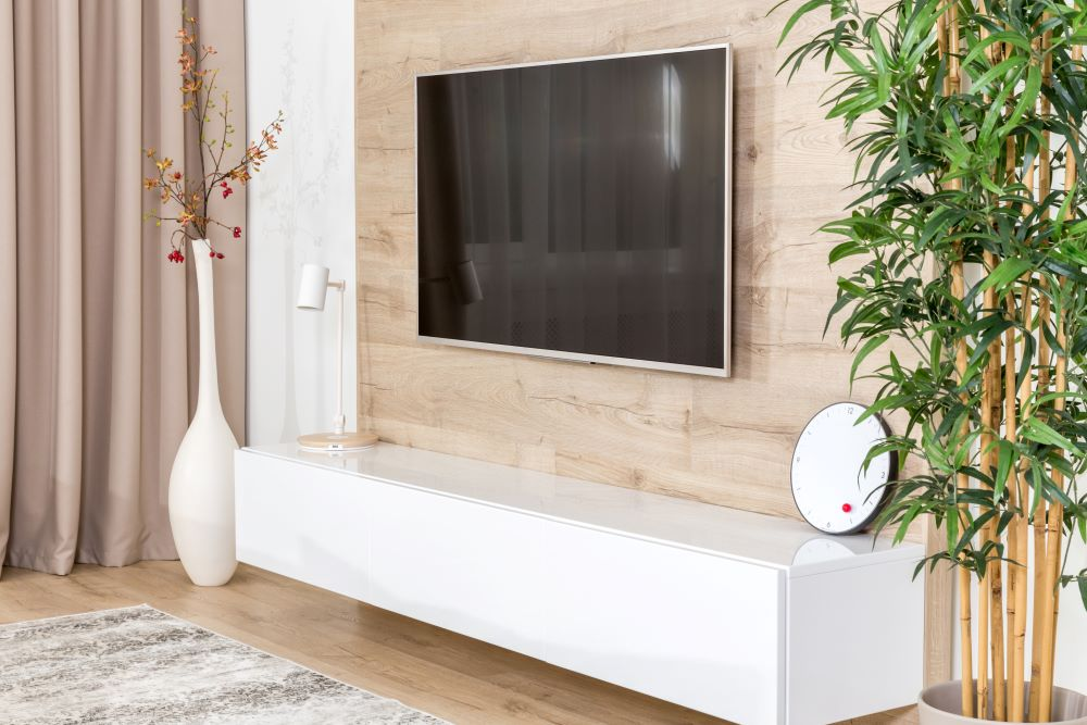 Wall Decoration Ideas For Living Room - TV Hanging On Wall