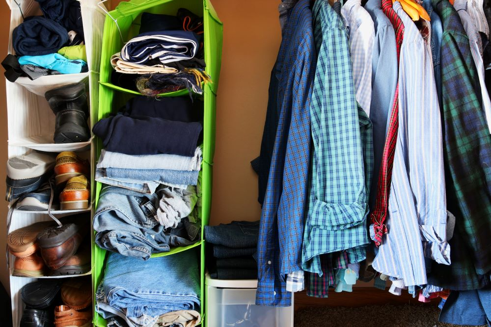 How To Organize Closet - Hanging Shoe Organizer