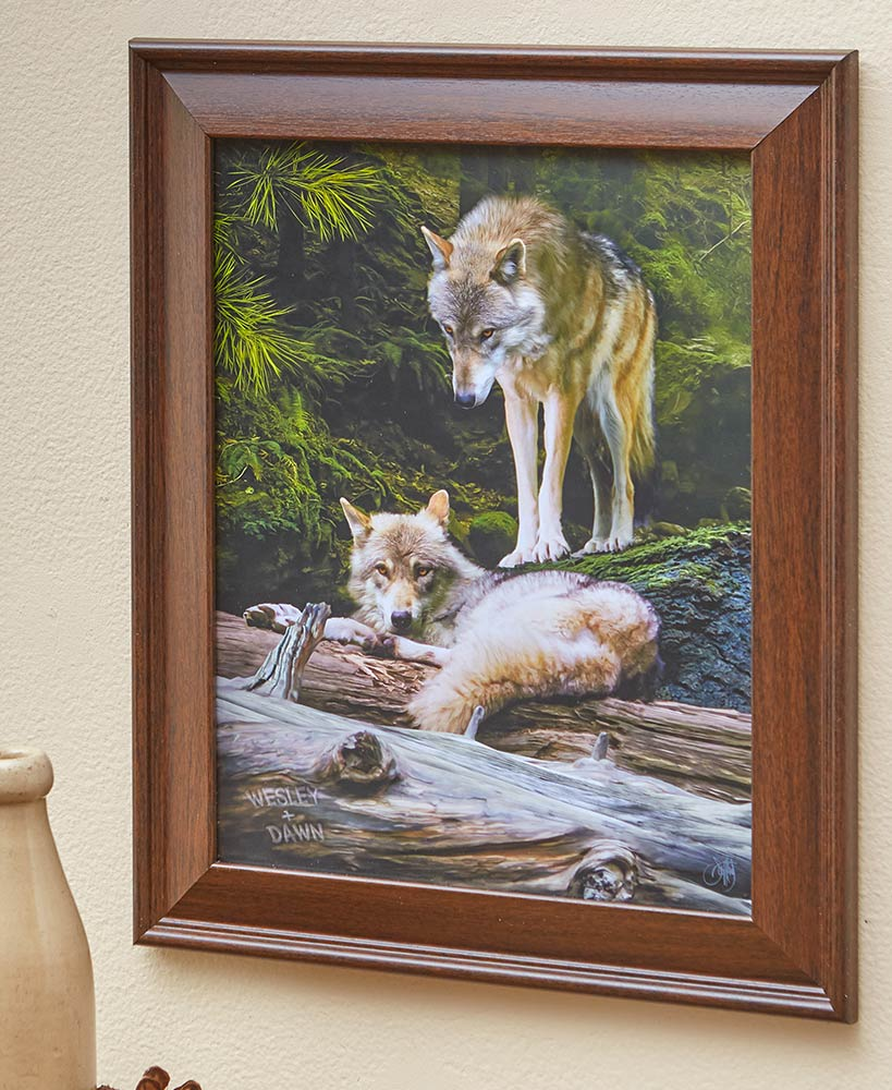 Personalized Wolf Framed Art