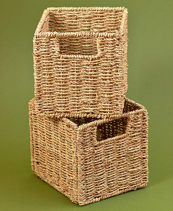 Kitchen Storage Ideas - Set Of 2 Baskets