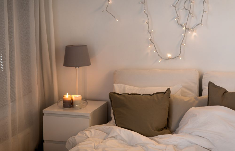 How To Decorate With Candles - Candles On Bedside Table
