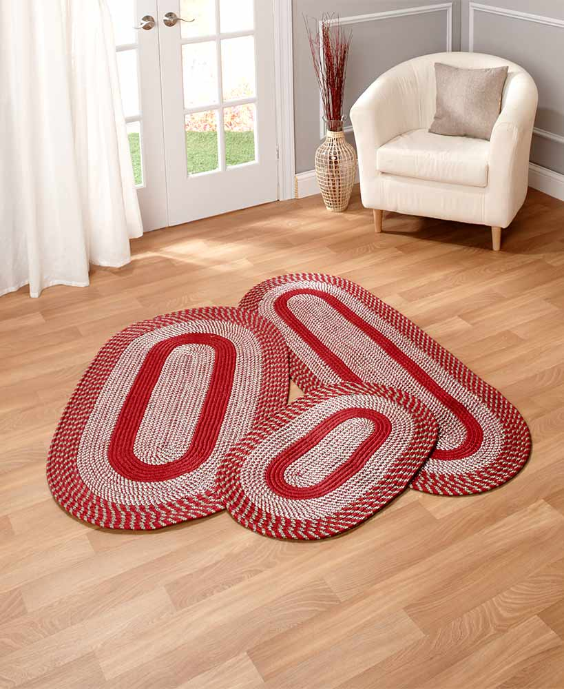 3 Piece Braided Rug Set