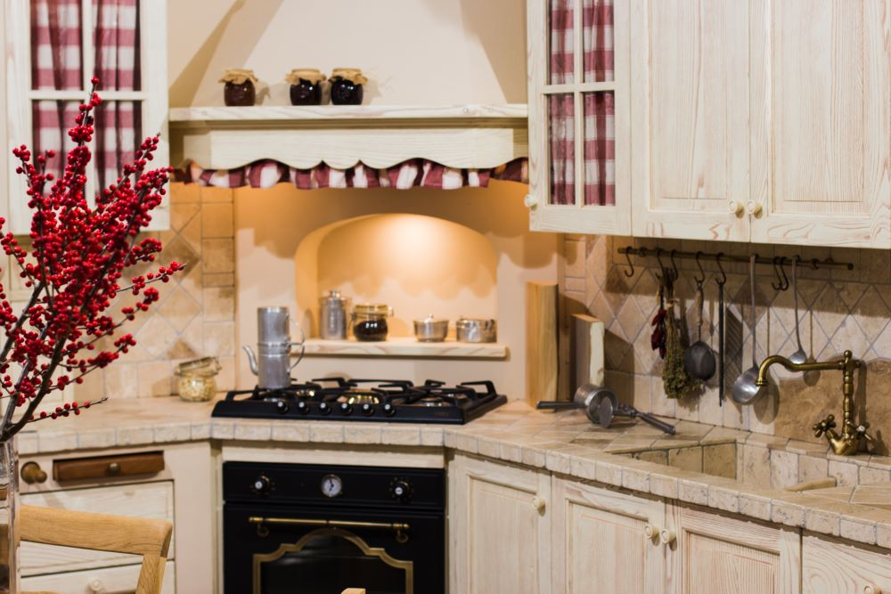 Decorating Ideas For Country Kitchen - Gingham Patterns