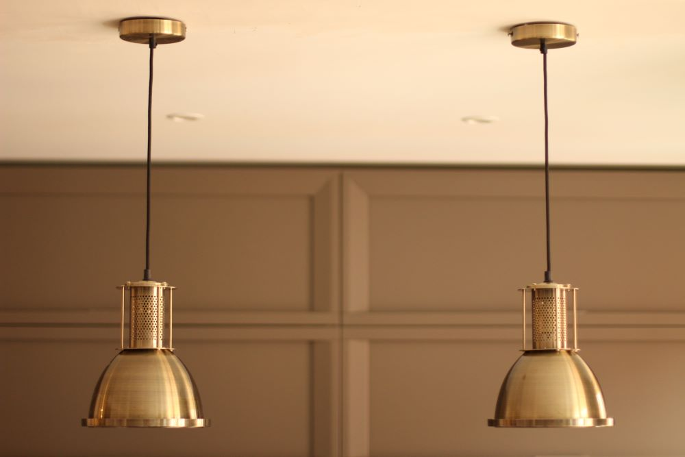 Decorating Ideas For Country Kitchen - Brass Light Fixture