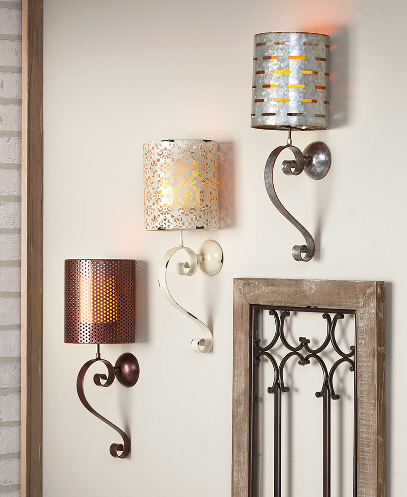 Rustic Metal Wall Sconces