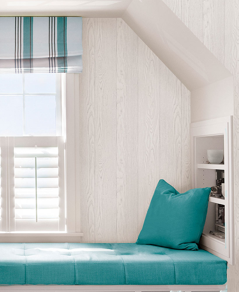 Timber White Peel And Stick Wallpaper