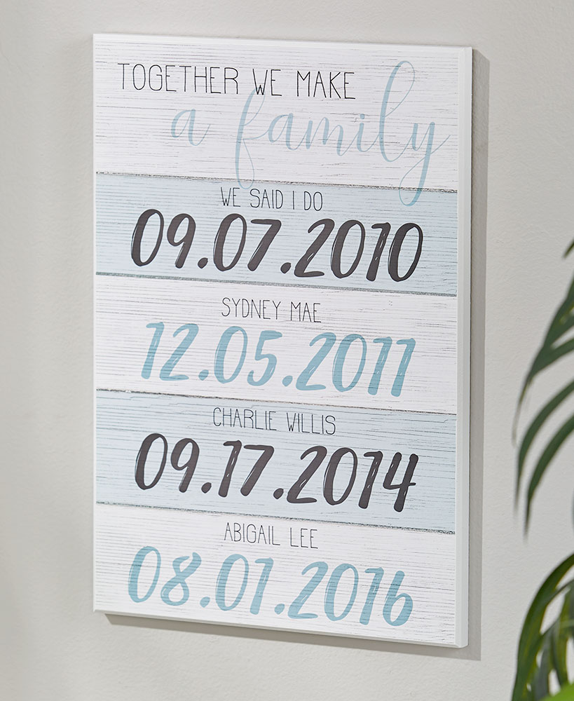 Together We Make a Family Personalized Plaques