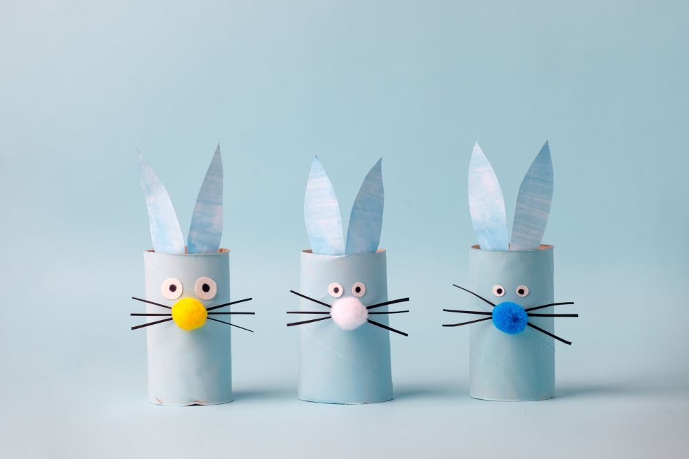 Easy Easter Crafts - Toilet Paper Roll Bunny
