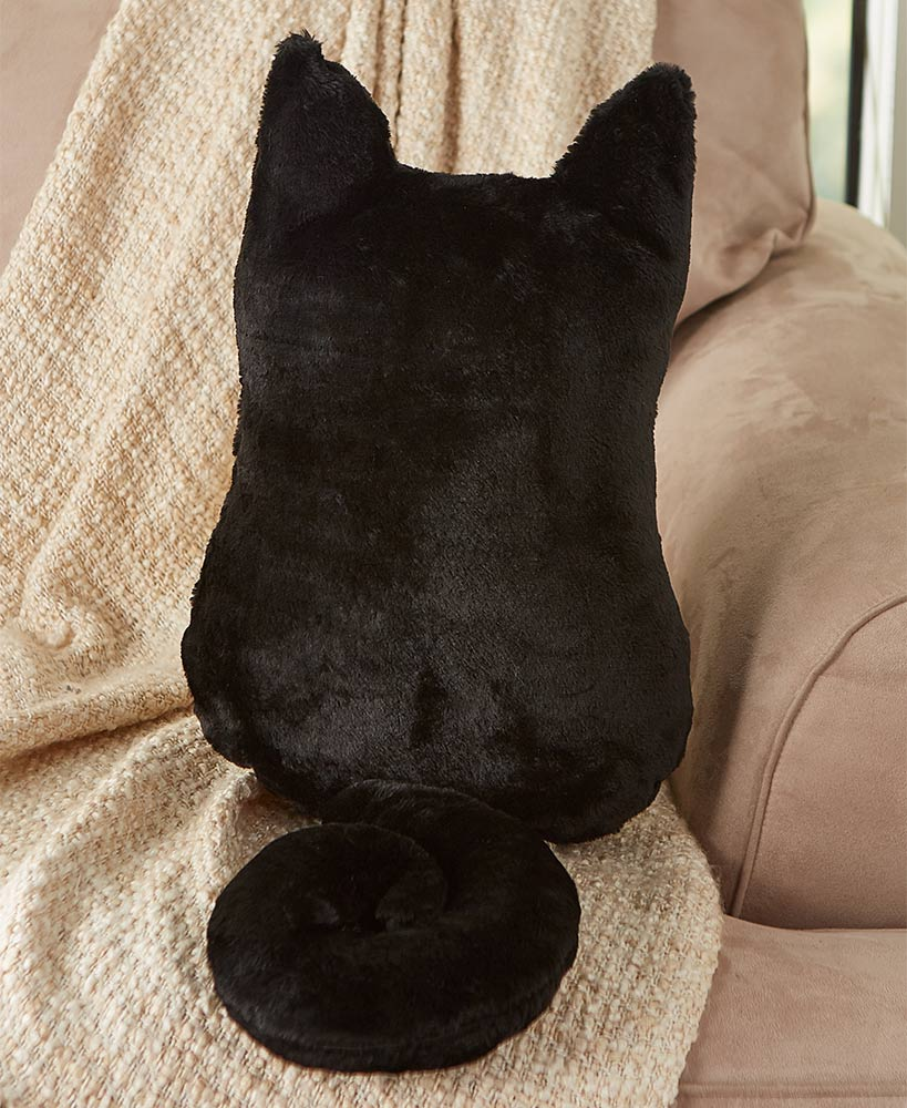 Relaxing Mother's Day Gifts - Cozy Cat Pillows Black