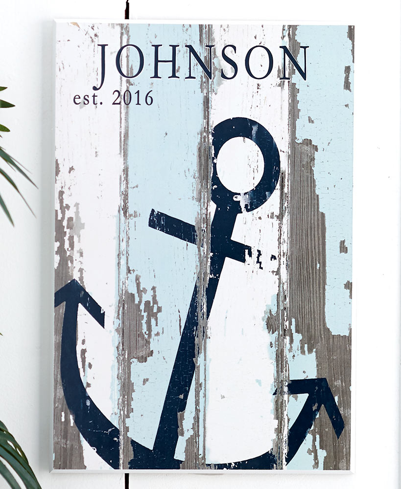 Housewarming Gift Ideas - Coastal Themed Personalized Plaques