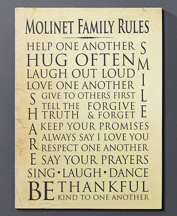 Housewarming Gift Ideas - Personalized Family Wall Plaques