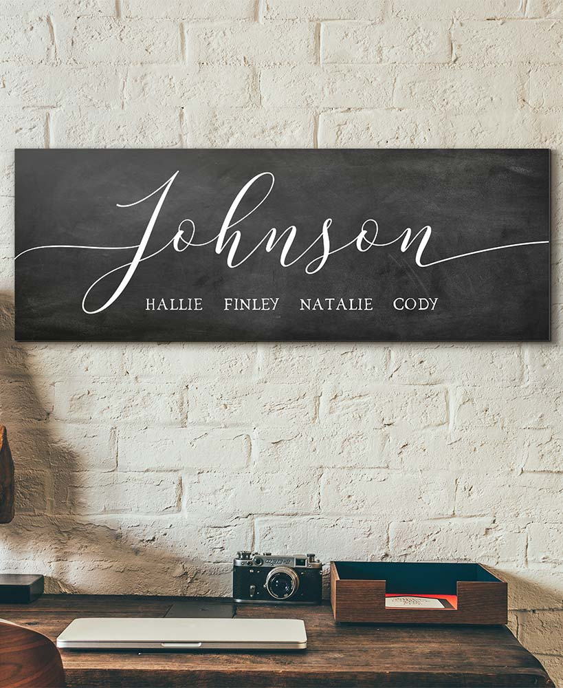 Housewarming Gift Ideas - Personalized Farmhouse Script Wall Art