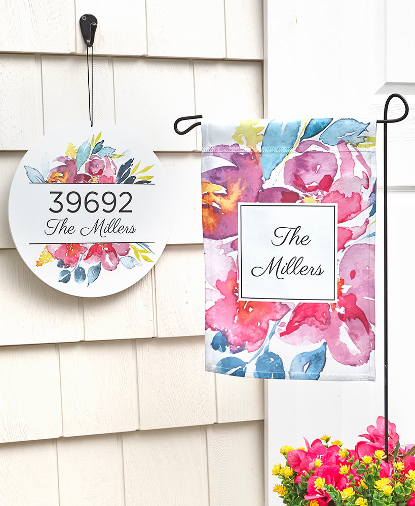 Housewarming Gift Ideas - Personalized Watercolor Floral Collection