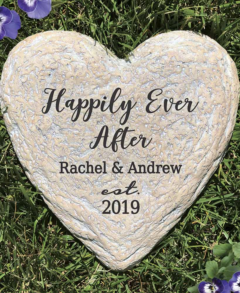 Wedding Gift Ideas - Personalized Happily Ever After Garden Stone