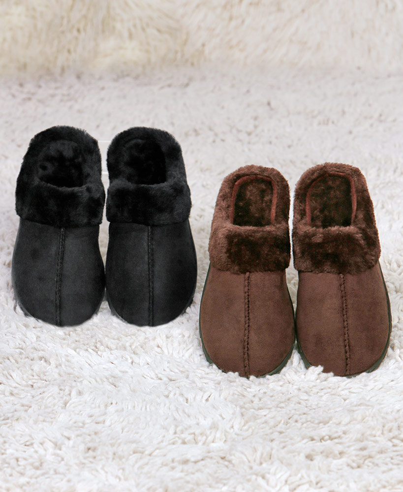Relaxing Mother's Day Gifts - Fur Lined Faux Suede Scuffs