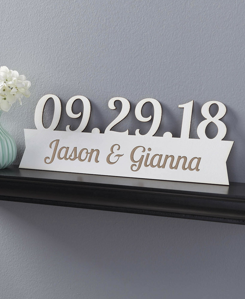 Wedding Gift Ideas - Our Special Day Personalized Wood Plaques