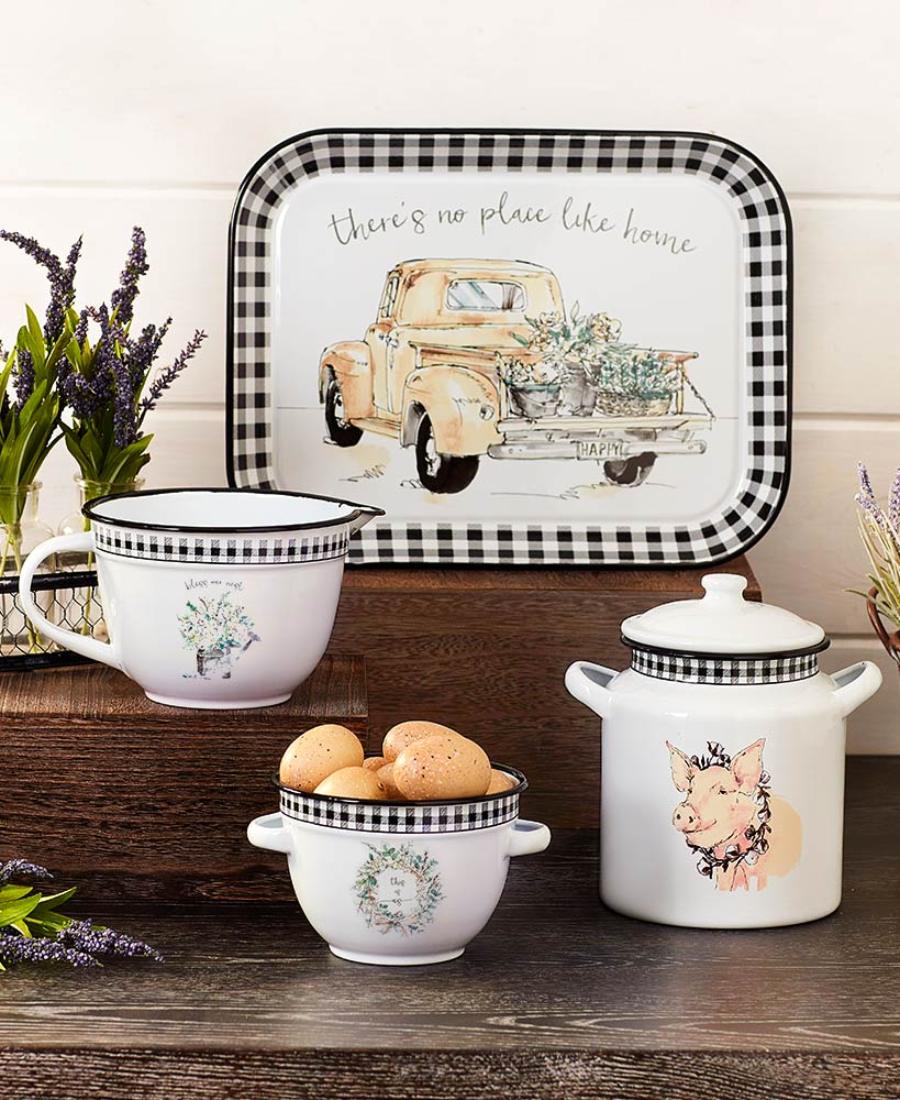 Housewarming Gift Ideas - Vintage Farmhouse Enamelware