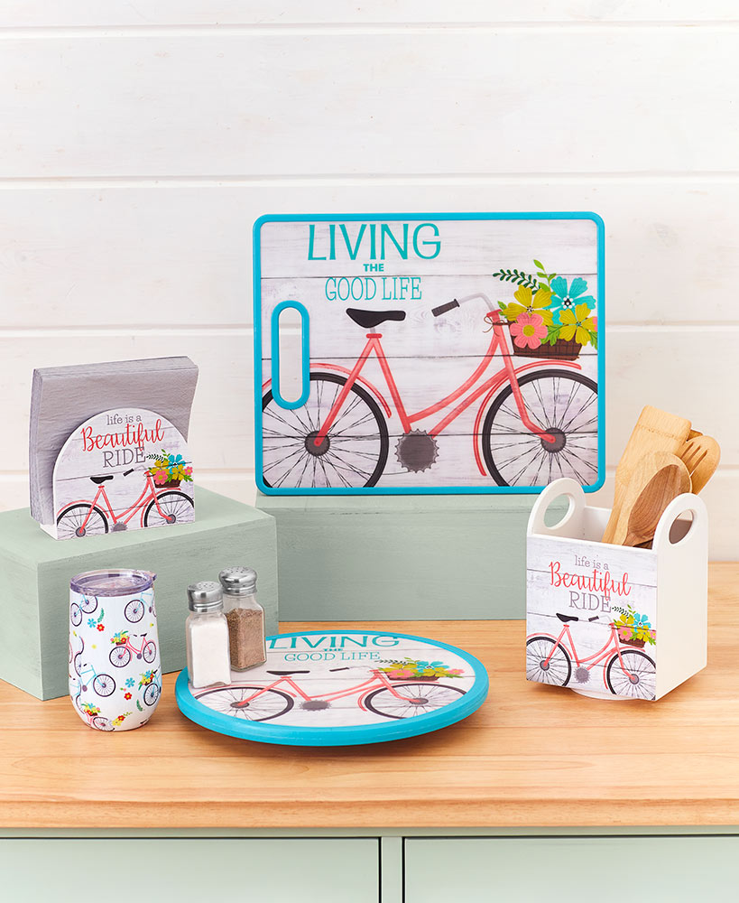 Vintage Bicycle Kitchen Decor Collection