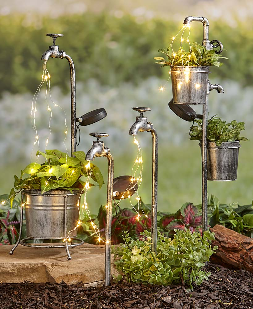 Solar Faucet Water Light Collection