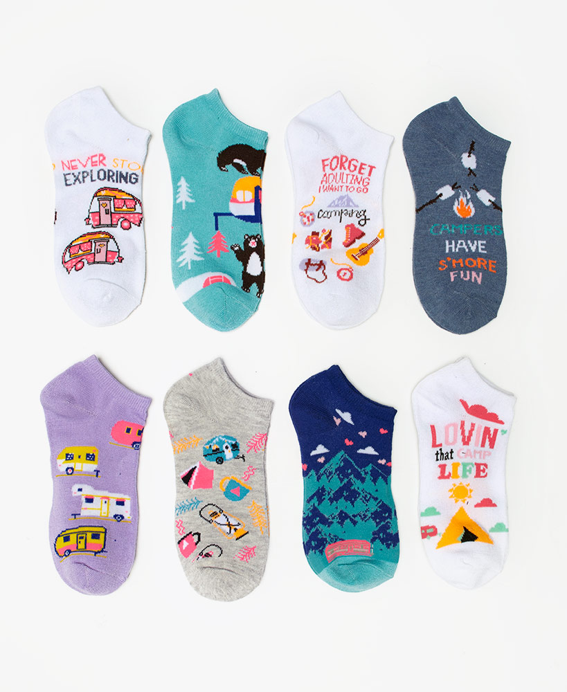 Happy Camper Fashion Socks