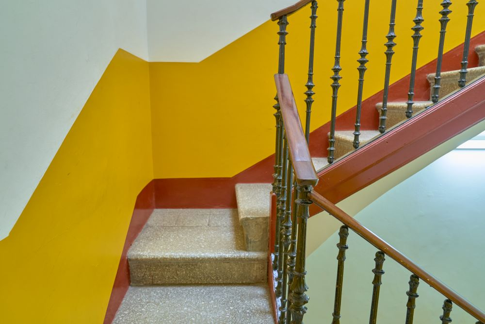 Bright Staircase Walls