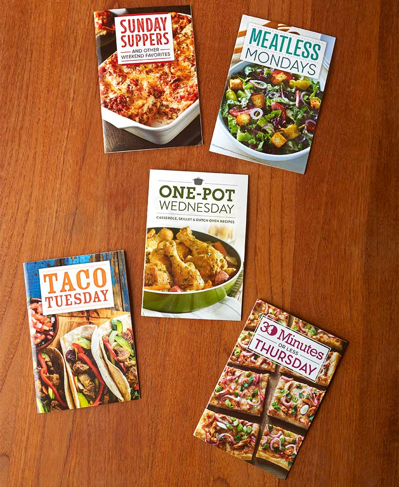 5-Pk. Weekly Cooking Books