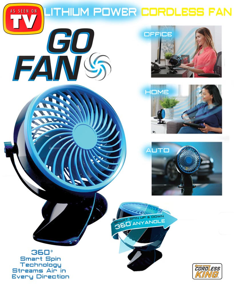 Go Fan™ Cordless Rechargeable Fan