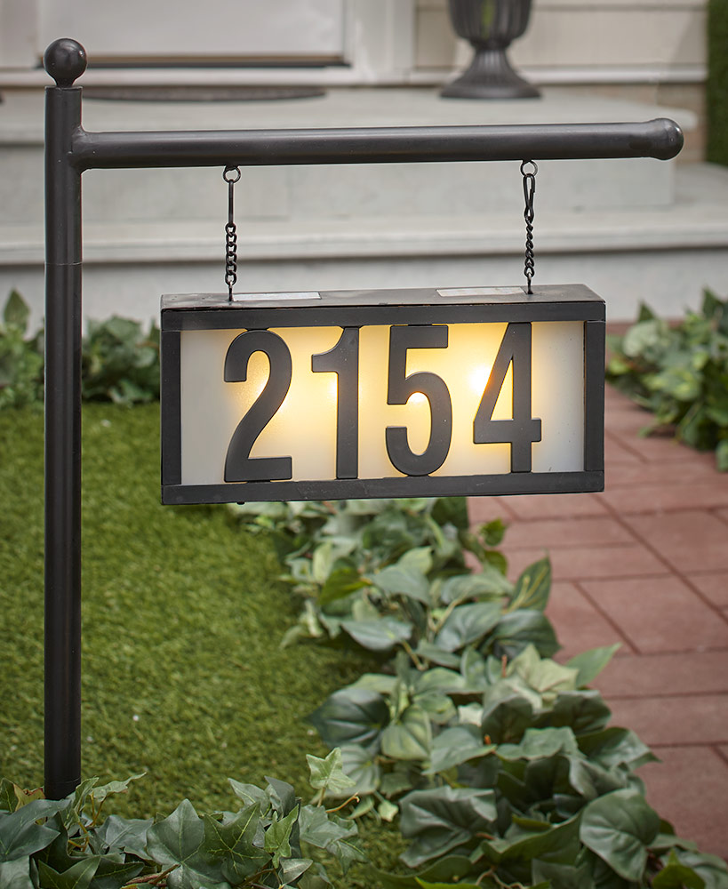 Solar House Number Display Stakes