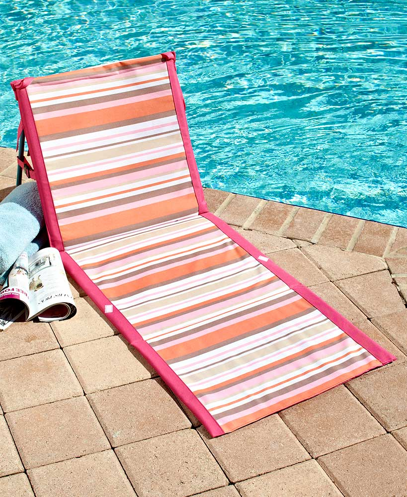 Outdoor Products - Striped Folding Beach Loungers