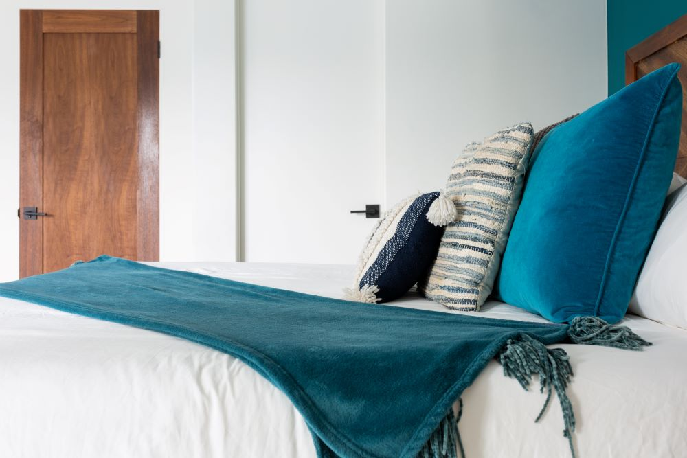Coastal Colored Pillows And Blankets