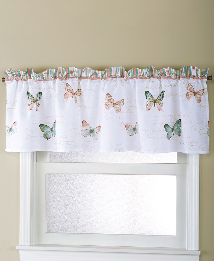 Rose Garden Bathroom Window Valance