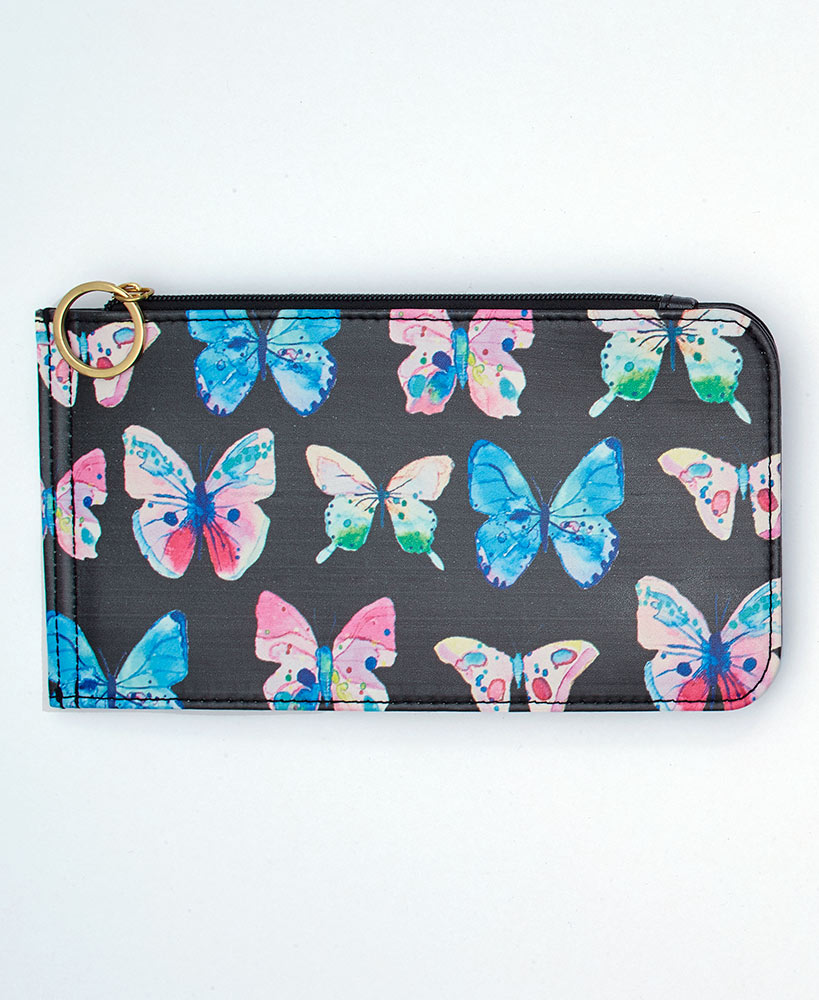 RFID Blocker Slim Butterfly Credit Card Wallet