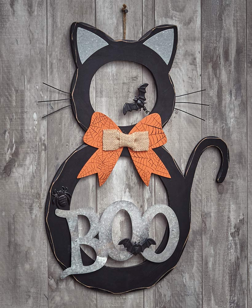 Black Cat Wall Hanging