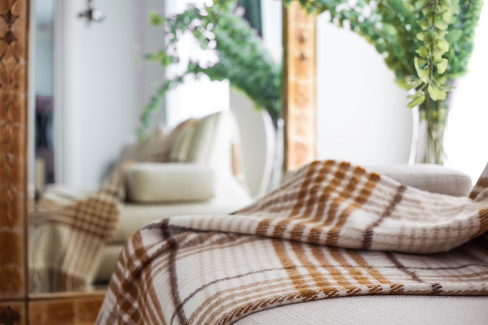 Decorating For Fall - Plaid Blanket