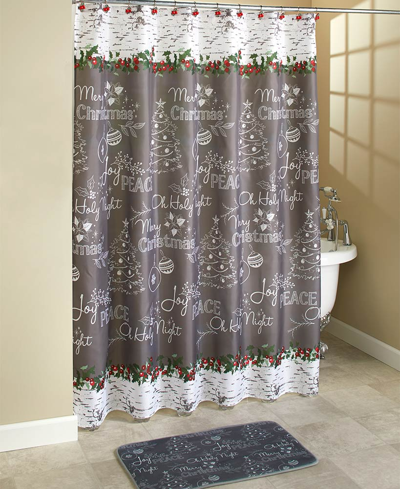 Gray Chalkboard-Look Holiday Bath Collection