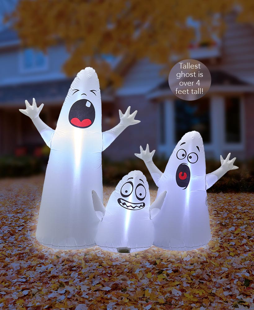 Halloween Character Decor - Ghost Trio Inflatable