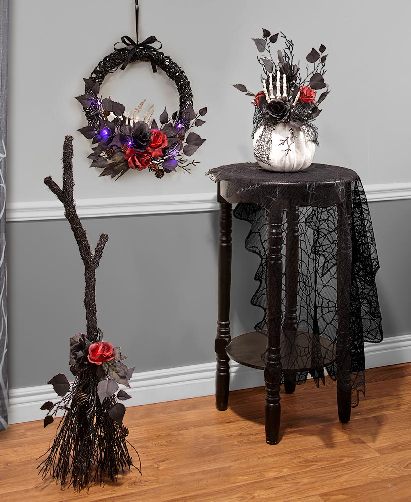 Gothic Rose Halloween Decor