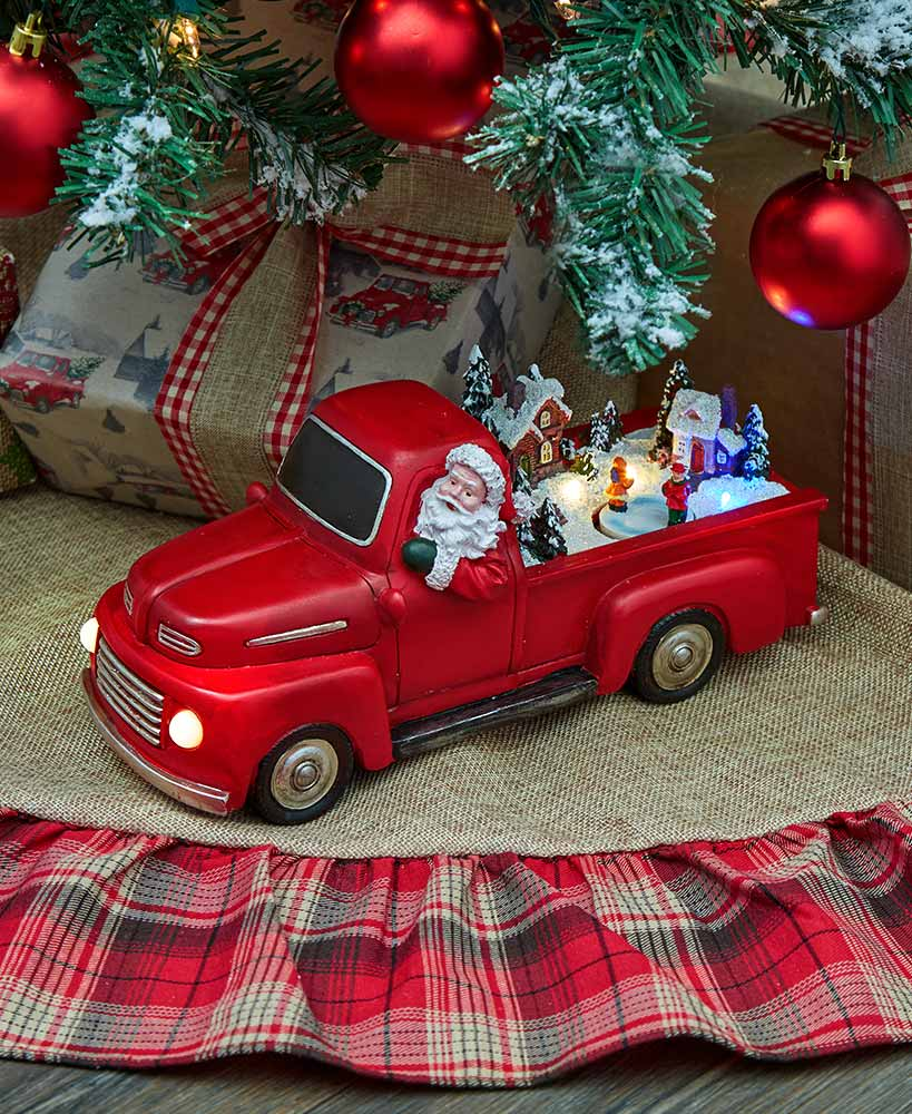 Animated Christmas Pick-Up Truck