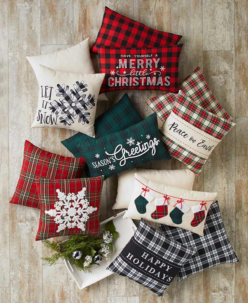 Buffalo Plaid Christmas Throw Pillows