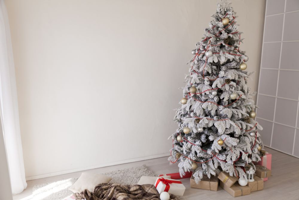 White Snow Dusted Christmas Tree