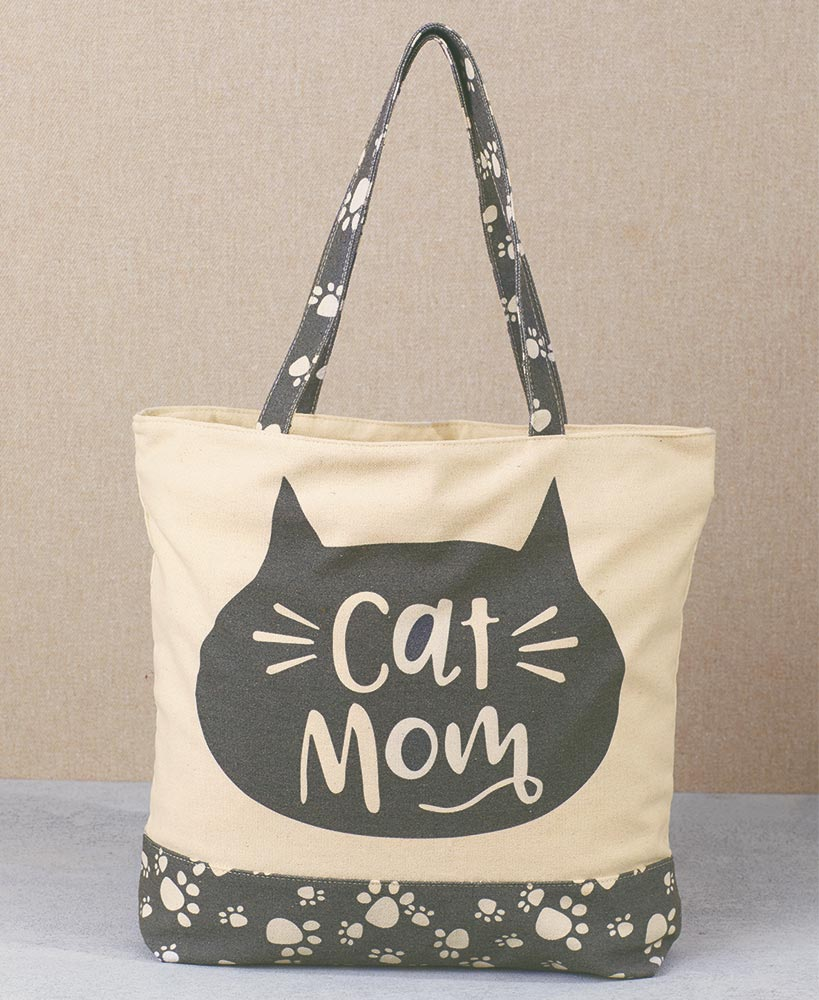 christmas gift ideas for cat lovers - Cat Mom Tote Bag