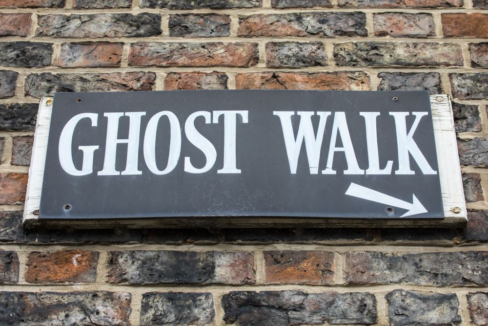 ghost walk sign