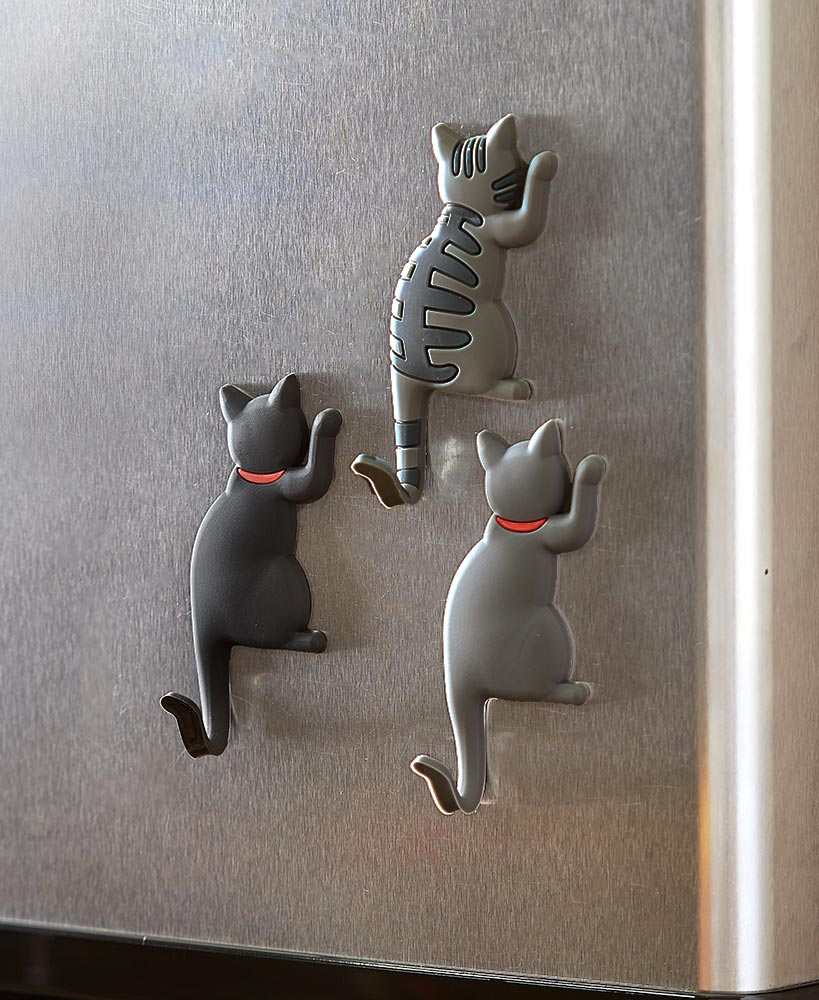 christmas gift ideas for cat lovers - Set of 3 Magnet Cat Hooks