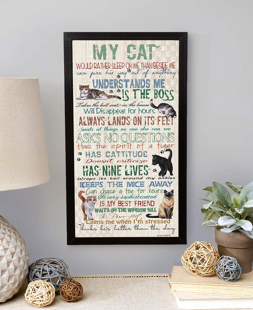 christmas gift ideas for cat lovers - My Cat Wall Hanging
