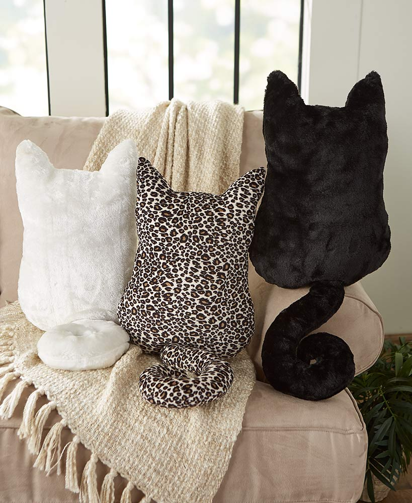 christmas gift ideas for cat lovers - Cozy Cat Throw Pillows