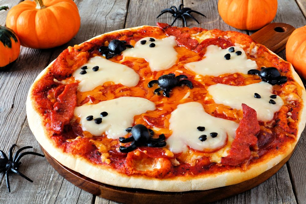 Ghost & Spider Pizza