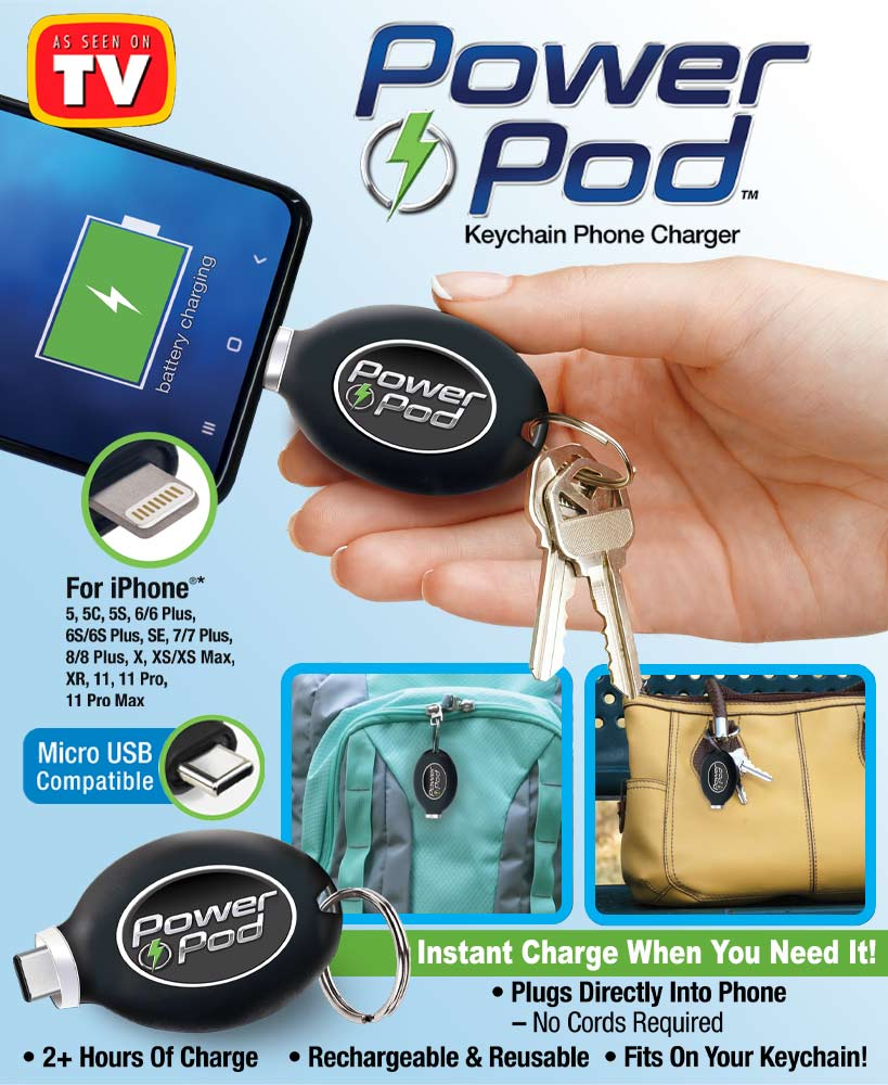 Power Pod™ Emergency Phone Chargers