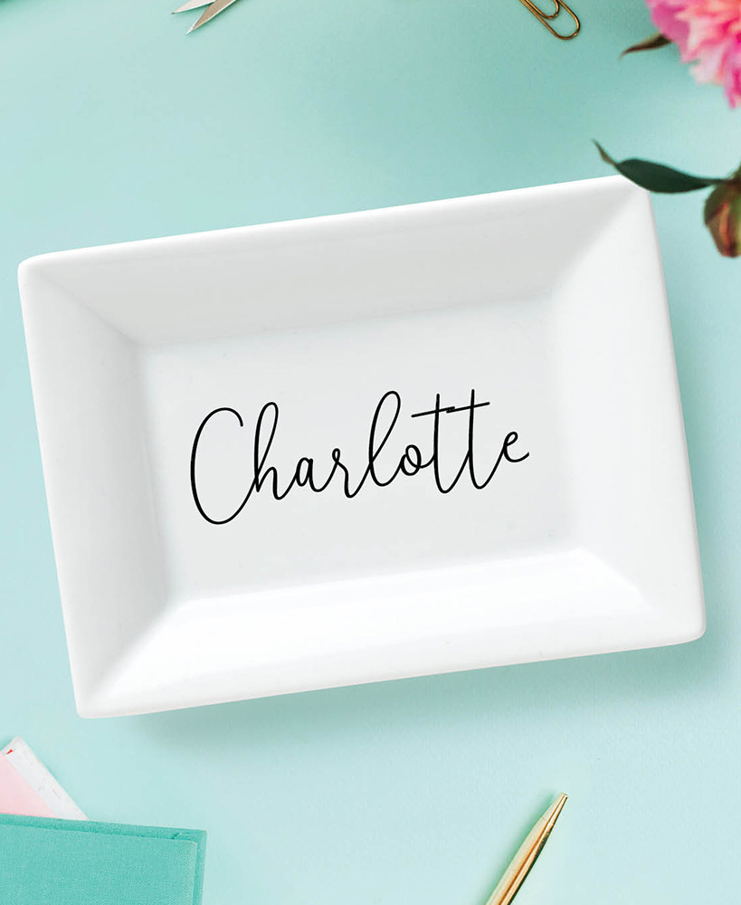 Personalized Trinket Dishes