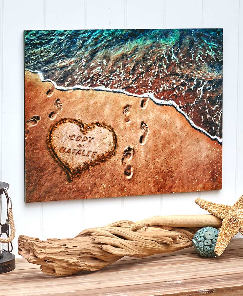 Personalized Toes in the Sand Wall Art
